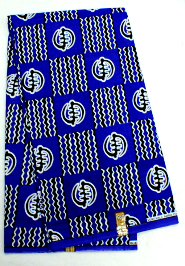 African Realwax Fabric Blue color